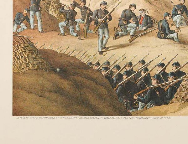 761: KURZ & ALLISON: SIEGE OF VICKSBURG. Surrender date - 4