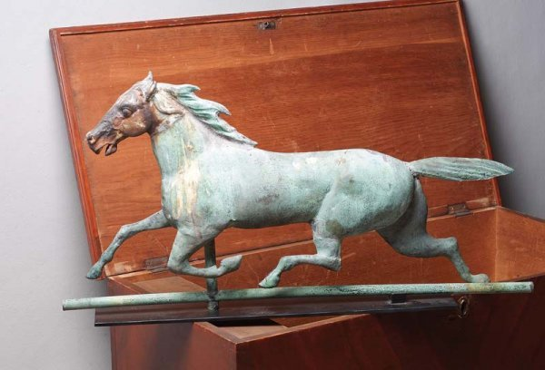 871: HORSE WEATHERVANE. Most likely Ethan Allen by A.J.