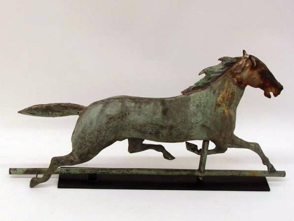 871: HORSE WEATHERVANE. Most likely Ethan Allen by A.J. - 2