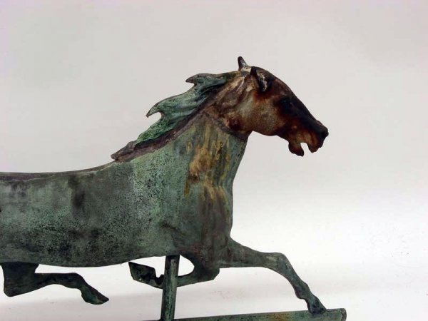 871: HORSE WEATHERVANE. Most likely Ethan Allen by A.J. - 3