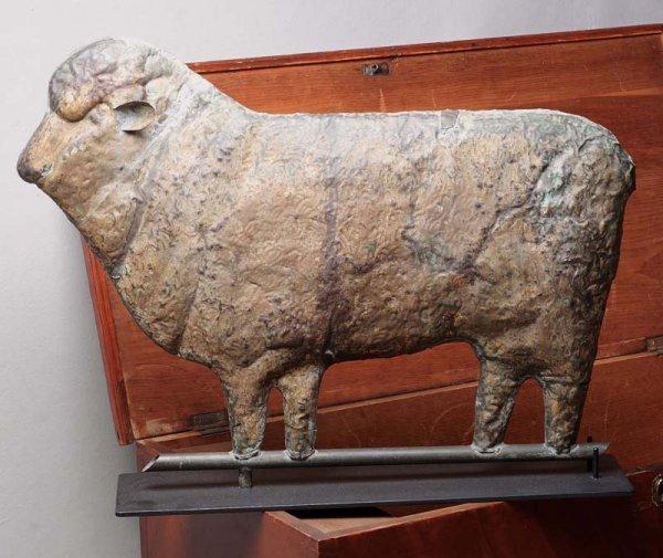 872: SHEEP WEATHERVANE. American, second half 19th Cent