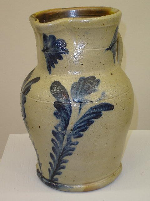 20: DECORATED STONEWARE PITCHER. Attributed to Richard