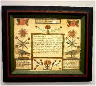 108 PENNSYLVANIA FRAKTUR Birth and Baptism certificat