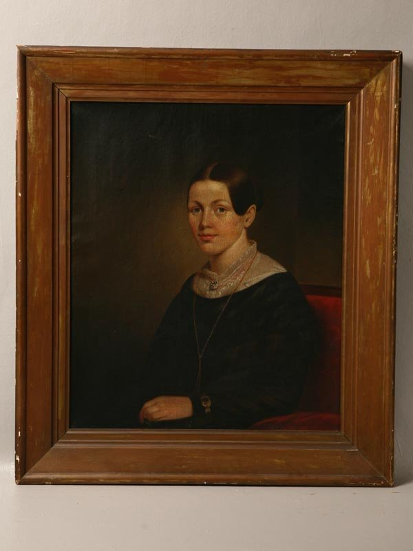 6: PORTRAIT PAINTING OF A WOMAN. American, ca. 1840's.