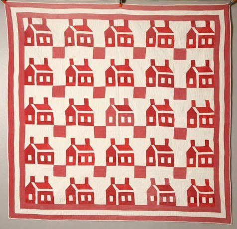 13: PIECED QUILT. Late 19th Century. Various shades of