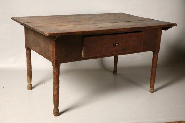 15: PINTOP WORK TABLE. Pennsylvania, early 19th Century