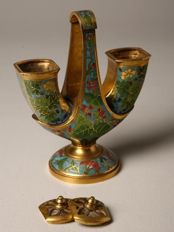 412: INCENSE BURNER BY ELKINGTON. English, late 19th Ce
