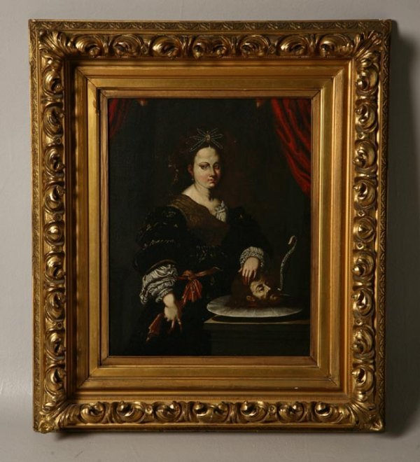 415: PAINTING OF SALOME. European, possibly 17th Centur