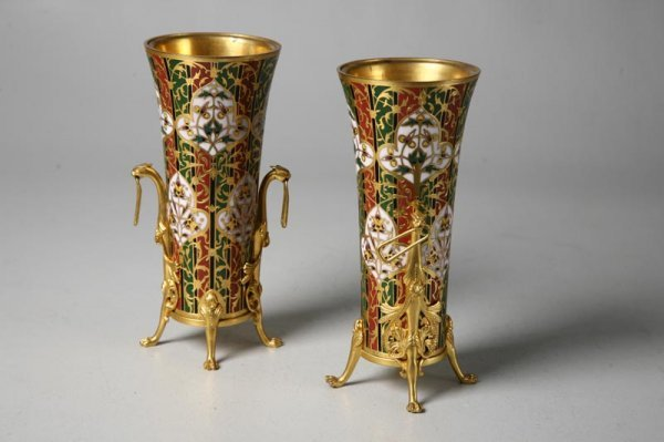 420: PAIR OF VASES SIGNED BARBEDIENNE. French, ca. 1875