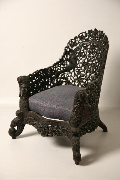 422: ORIENTAL PARLOR CHAIR. China, late 19/early 20th C