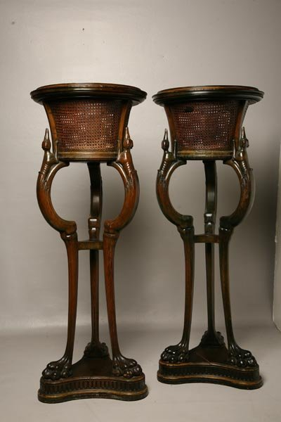 424: PAIR OF FIGURAL PLANT STANDS. English, 19th Centur