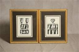 2194: THREE PRINTS. Black and white images of a classic