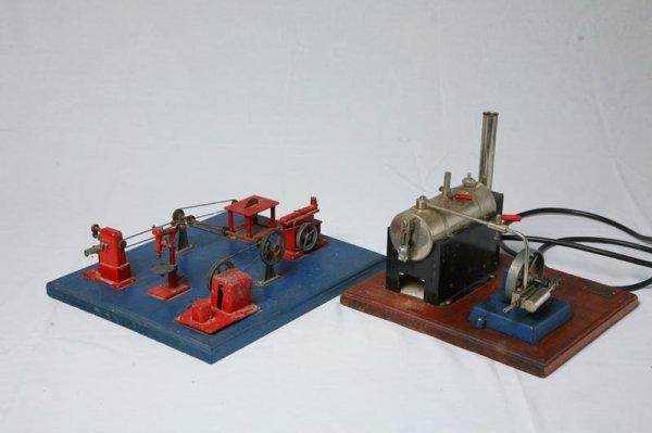 402: JENSEN STEAM DRIVEN MACHINIST SHOP. Six piece dior
