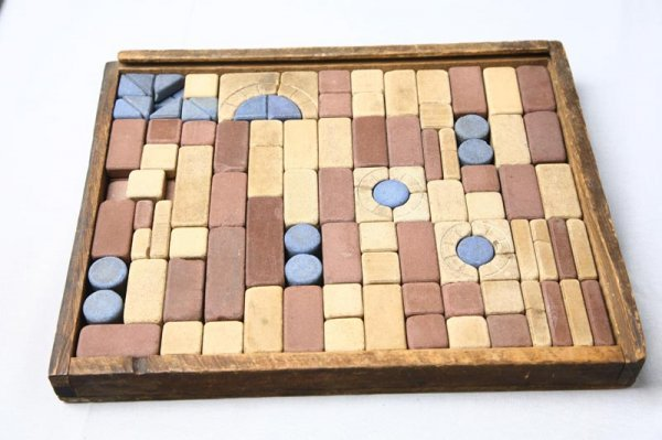 403: CHILD'S BUILDING BLOCKS. Made of pottery or stone