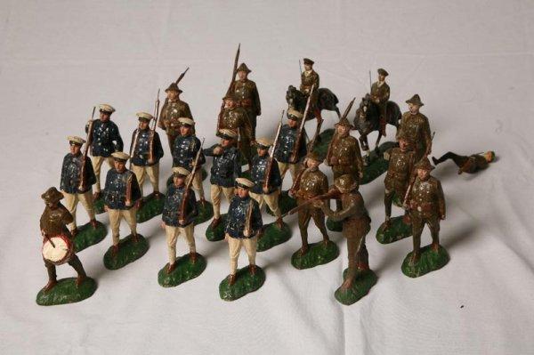 405: TWENTY-THREE TRICO PAPER MACHE SOLDIERS. WWI style