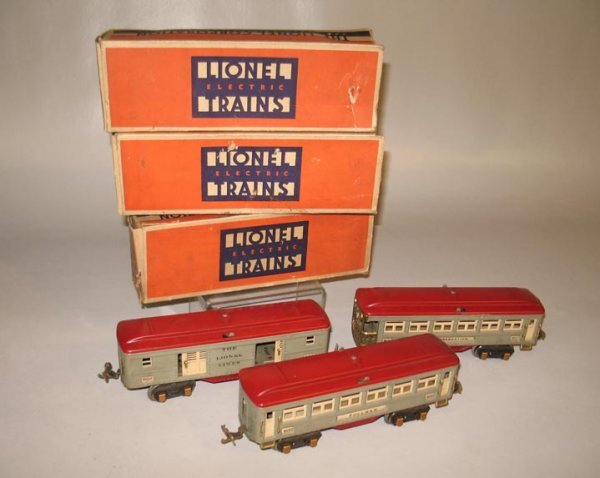 """415: LIONEL PASSENGER SET. Cars include a """"No. 600 Pull"""
