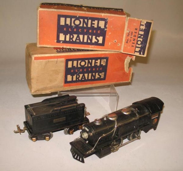 """416: LIONEL 259E ENGINE AND 262T TENDER. Both are tin """""""