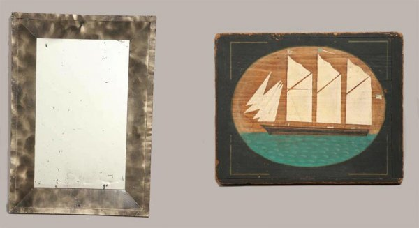 430: TWO PAINT DECORATED PIECES.