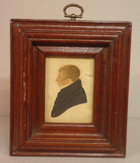 437: WATERCOLOR PORTRAIT. Profile of a man with blond h