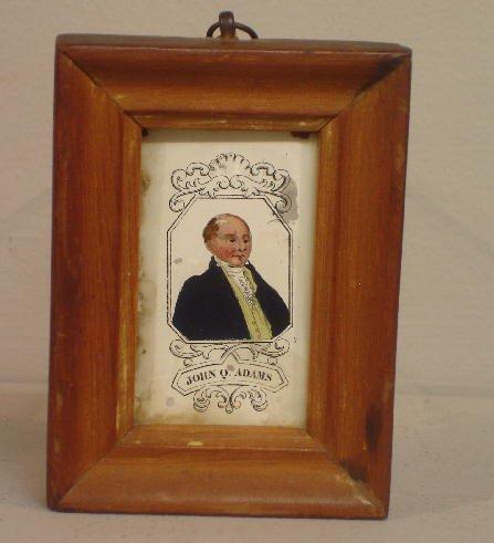 "438: REVERSE GLASS PORTRAIT. Printed portrait of ""John"