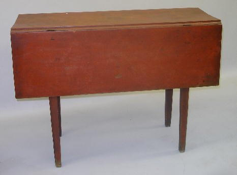 516: COUNTRY HEPPLEWHITE DROP LEAF TABLE. Birch with th