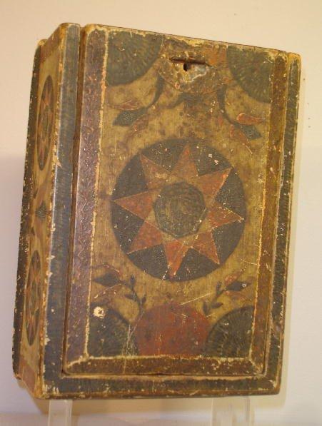 603: WONDERFUL PENNSYLVANIA DECORATED BOX. Attributed t