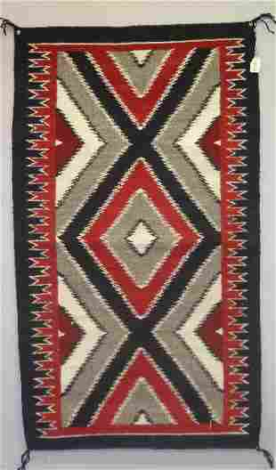 NAVAJO TAPESTRY STYLE WEAVING. A traditionally sty
