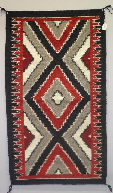 842: NAVAJO TAPESTRY STYLE WEAVING. A traditionally sty