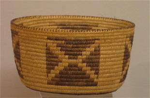 PIMA OVAL BOWL SHAPED BASKET. Finely and evenly wo