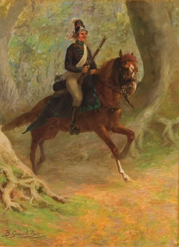 3: PAINTING OF SOLDIER BY B. GRANVILLE BAKER (LATE 19TH
