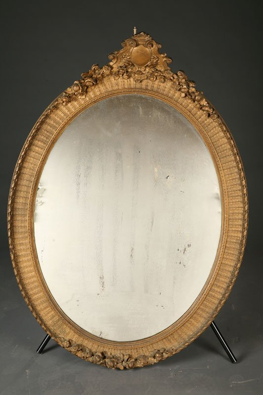 14: LARGE OVAL MIRROR.