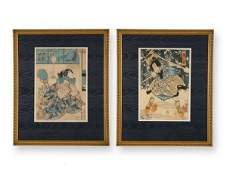 291: TWO WOODBLOCK PRINTS (JAPAN, LATE 19TH-EARLY 20TH