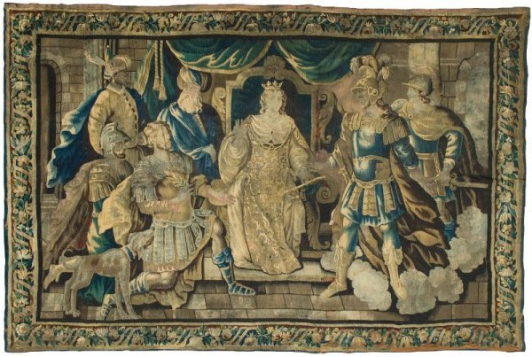 401: LARGE EARLY TAPESTRY.