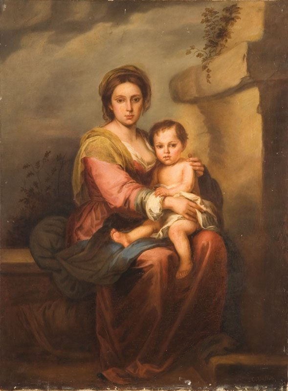 404: PORTRAIT OF A MOTHER AND CHILD BY VALLATI (EARLY 2