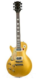 GIBSON LES PAUL DELUXE LEFT HANDED GOLD TOP GUITAR.