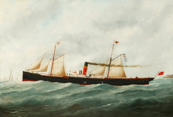 2412:  TRANSITIONAL STEAMSHIP  ISLE OF ANGLESEY    BY E