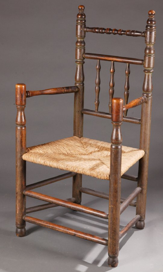 2427:  TURNED GREAT CHAIR.    Probably American and pos