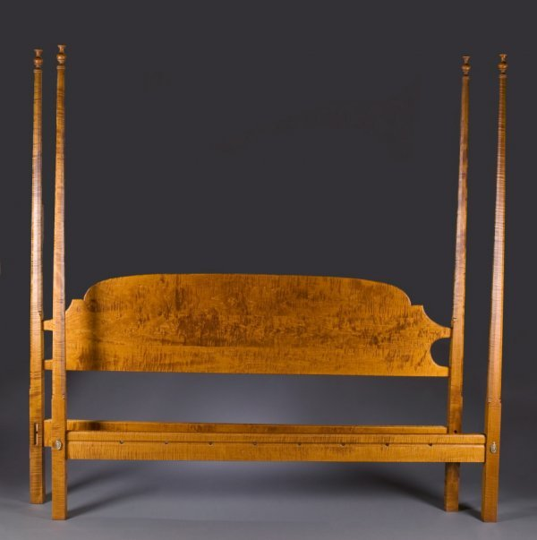 2484:  PENCIL POST BED.    J.L. Treharn, Youngstown, Oh