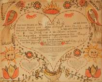2662  FRAKTUR    Printed by Johann Jacob Friederich K