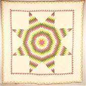 2677  PIECED QUILT    Said to be Pennsylvania mid 19