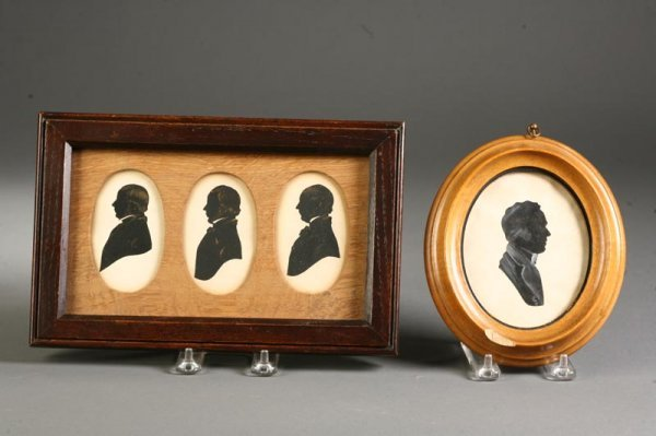 2004:  FRAMED SILHOUETTES.    First half-19th century.