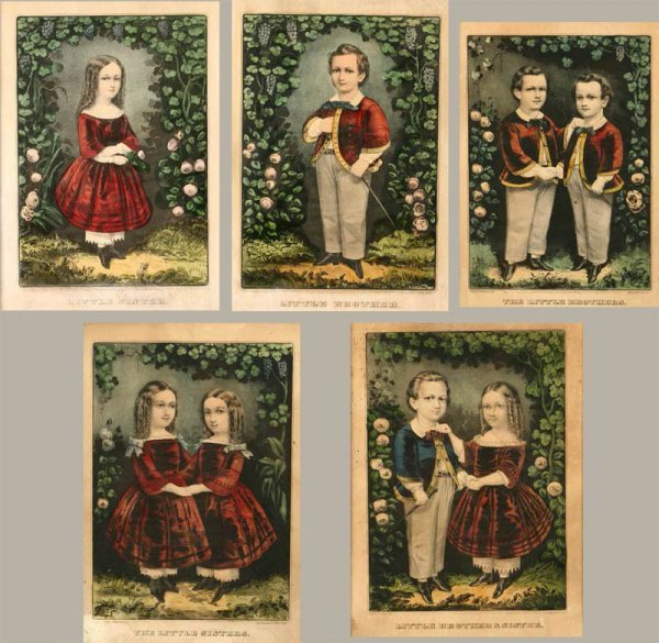 2015:  FIVE CURRIER & IVES LITHOGRAPHS (AMERICAN, MID 1