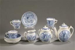 159 BLUE AND WHITE ALLERTON LITTLE MAE TEA SET