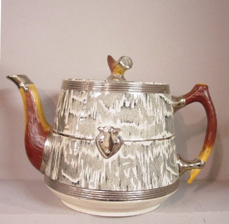"""120: ENGLISH """"ARTHUR WOOD"""" TEAPOT AND UNDERPL"""