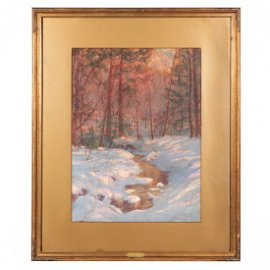 """""""BERKSHIRE BROOK"""" BY WILLIAM LAUNT PALMER (NEW"""