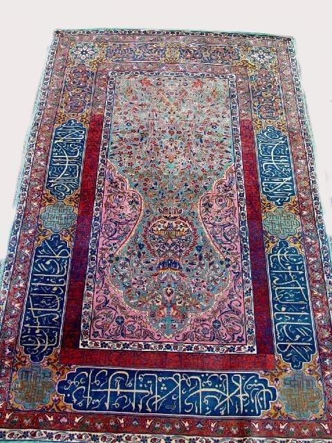 426: ORIENTAL RUG. Dabir Kashan prayer with c
