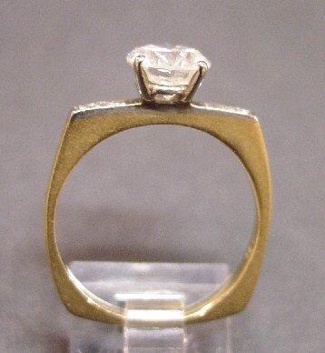 446: 18K YELLOW & WHITE GOLD LADIES' DIAMOND