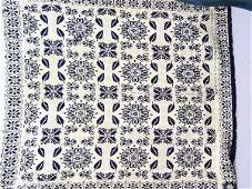 700: PAIR OF JACQUARD COVERLETS. Two-piece do