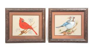 TWO BIRD PAINTINGS BY W JAMES ATWOOD