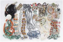 VINTAGE BEADS AND COSTUME JEWELRY.